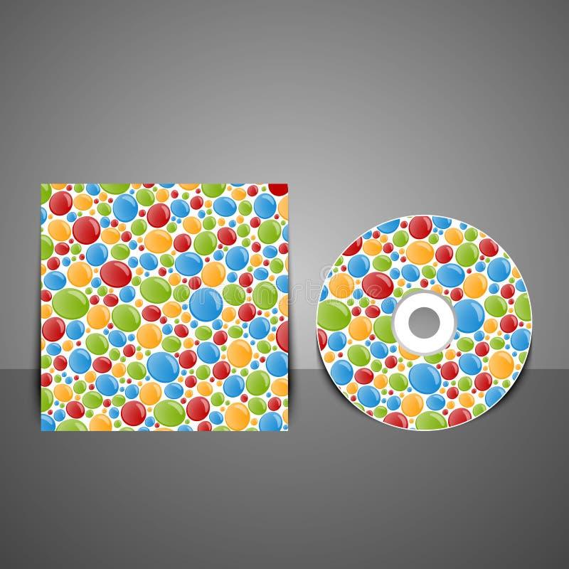 CD pokrywy projekt z kolorowymi bąblami royalty ilustracja