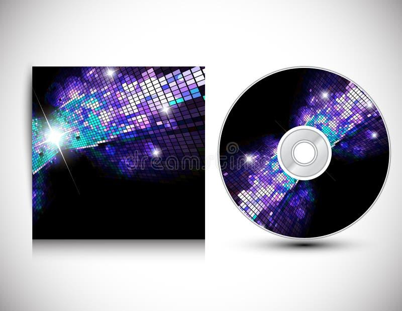 CD Pokrywy Projekta Szablon. royalty ilustracja