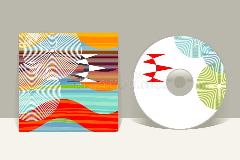 cd pokrywy projekta szablon Abstrakt deseniowe grafika ilustracji