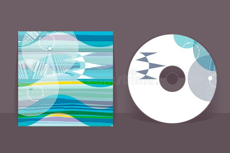 cd pokrywy projekta szablon Abstrakt deseniowe grafika royalty ilustracja