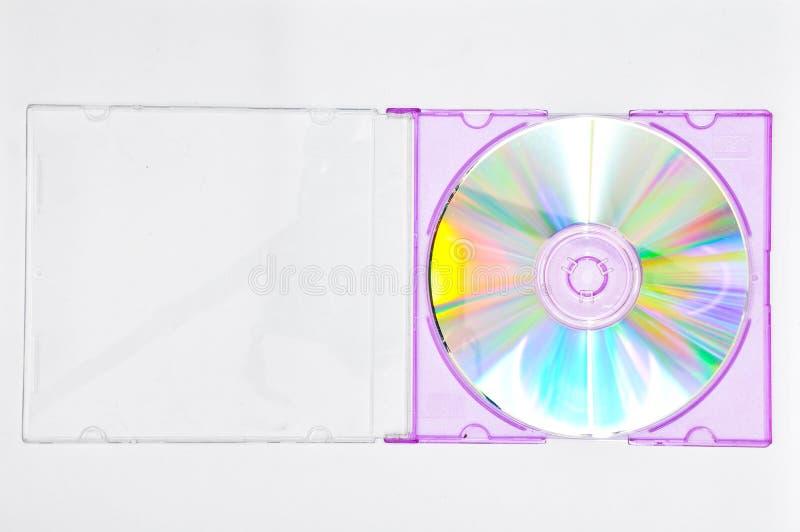 cd purple för ask arkivbild