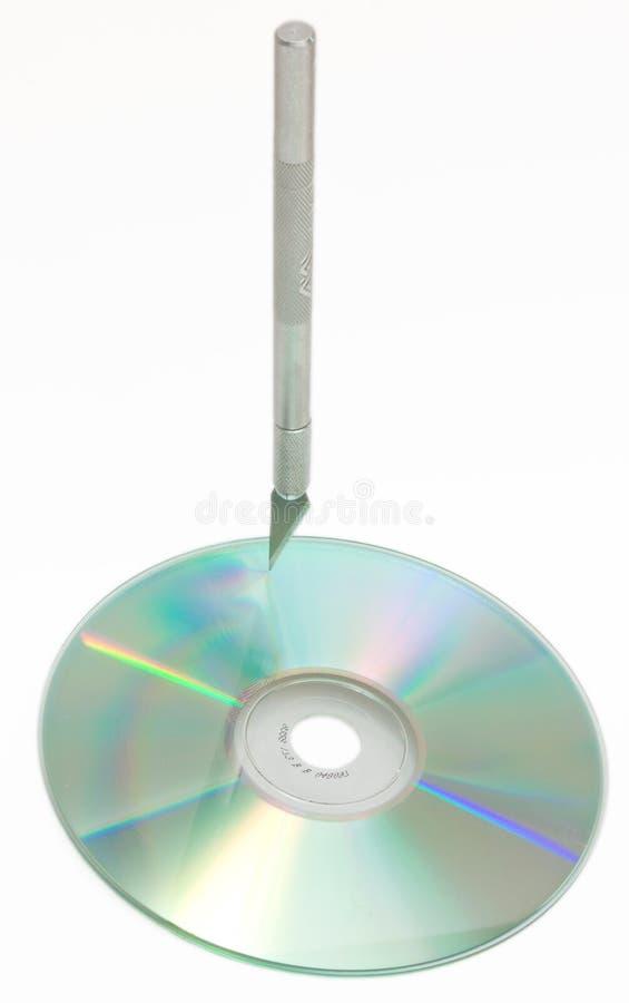 CD que talla o que graba al agua fuerte fotografía de archivo