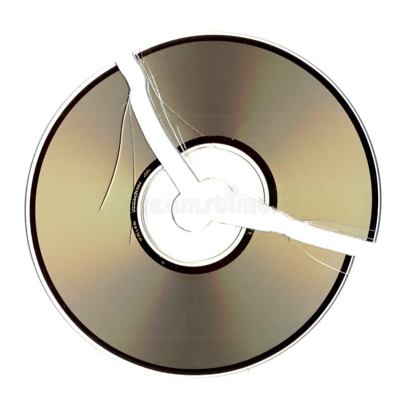 CD rachado imagem de stock