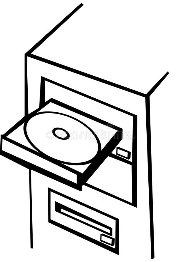 cd rom компьютера иллюстрация штока