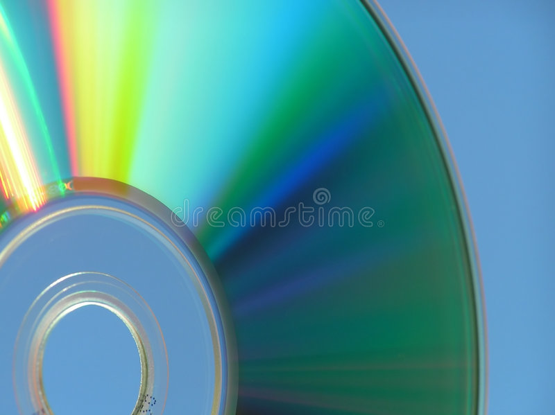 Cd-rom. Close-up of cd-rom showing the circular form and fantastic colors stock photos