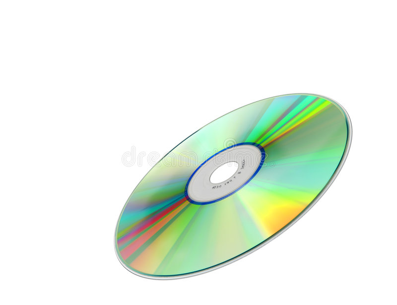Cd rom. A photography of a isolated cd rom stock photography