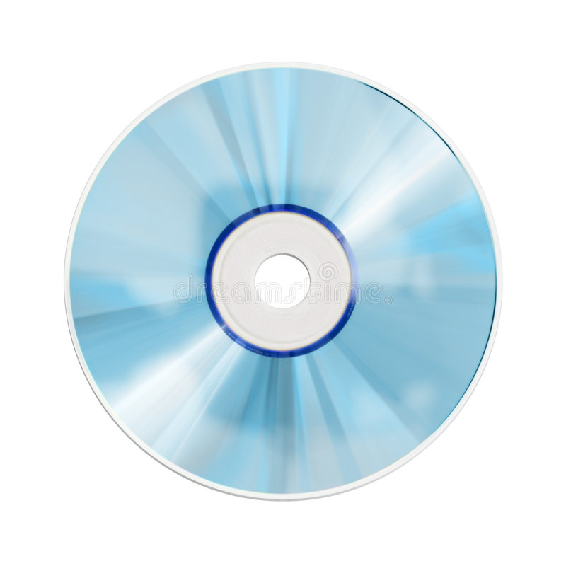 Cd rom. A photography of a isolated cd rom royalty free stock photo