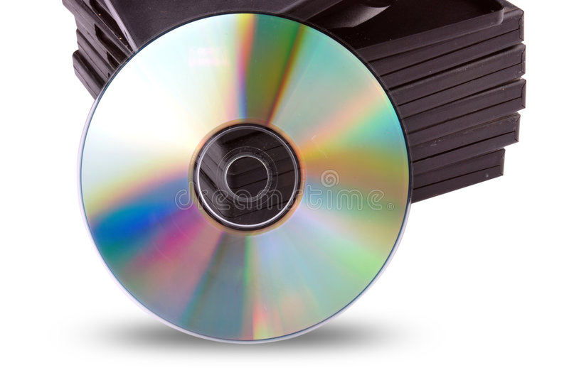 Cd-rom with black boxes