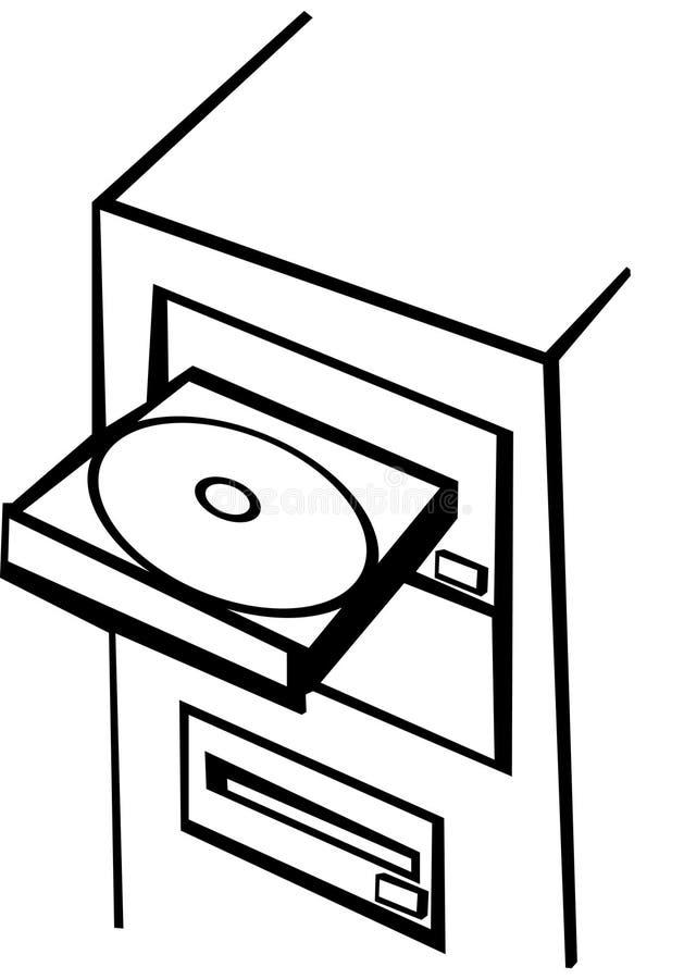 Cd-rom del calcolatore illustrazione di stock