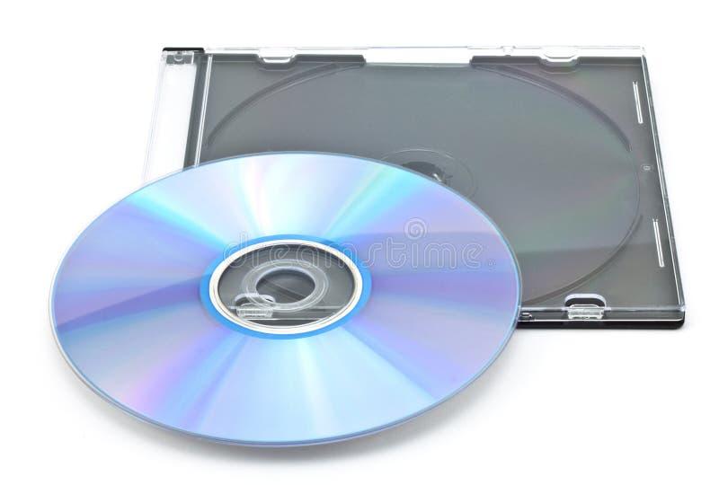 CD-rom in een doos royalty-vrije stock afbeelding