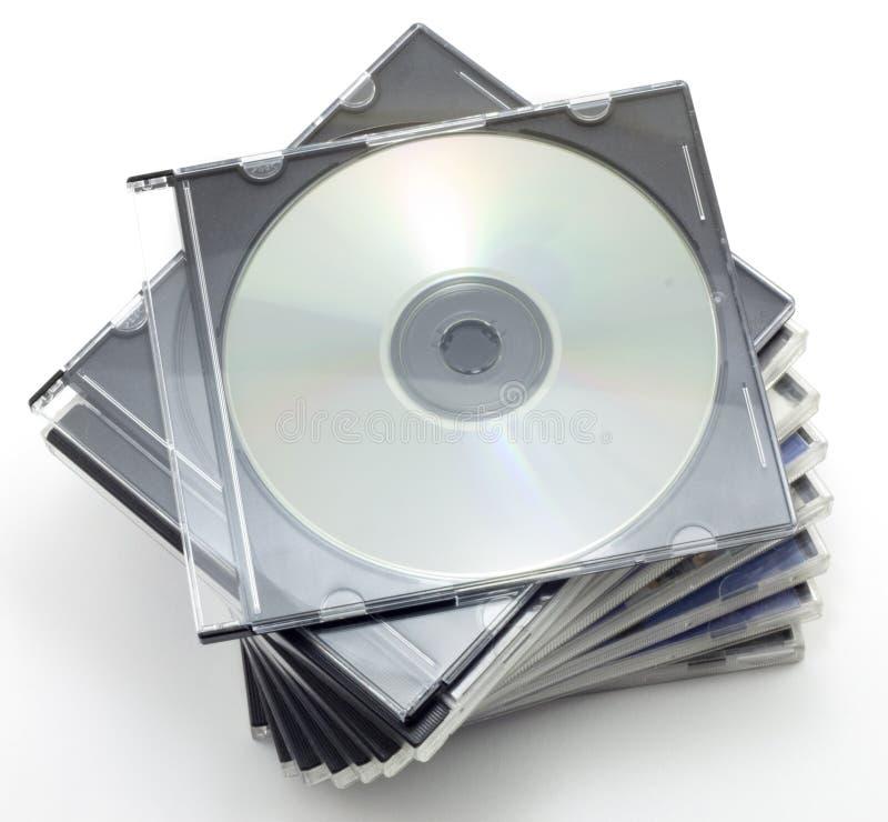 CD-ROM en un rectángulo imagenes de archivo