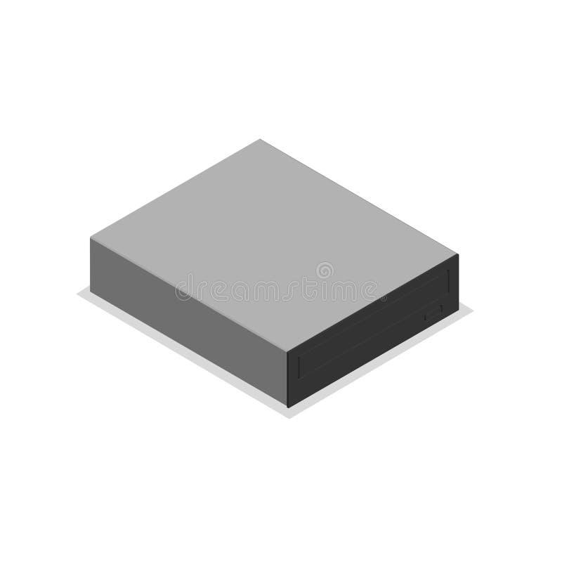 CD-ROM-Laufwerk in 3D isometrisch, Vektorillustration vektor abbildung