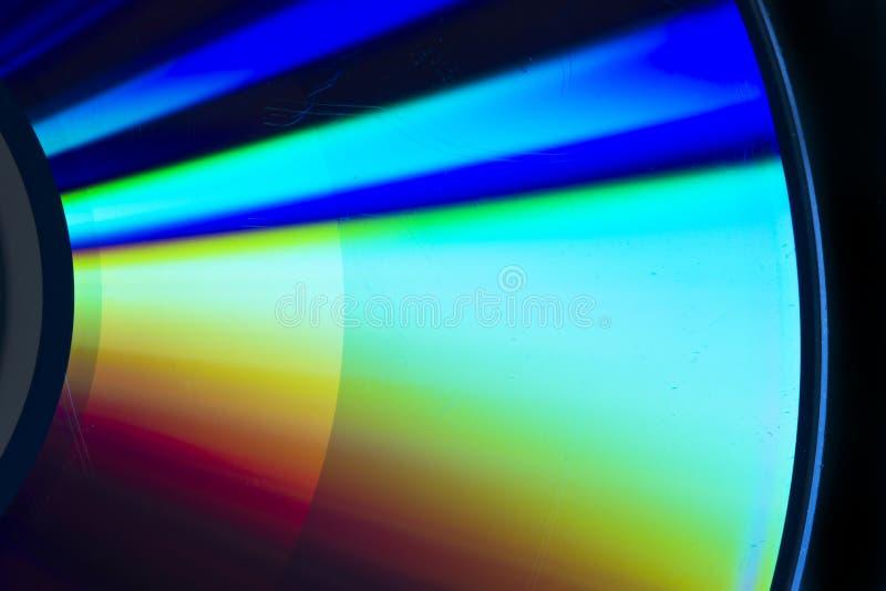 Cd-rom rainbow reflection royalty free stock photo