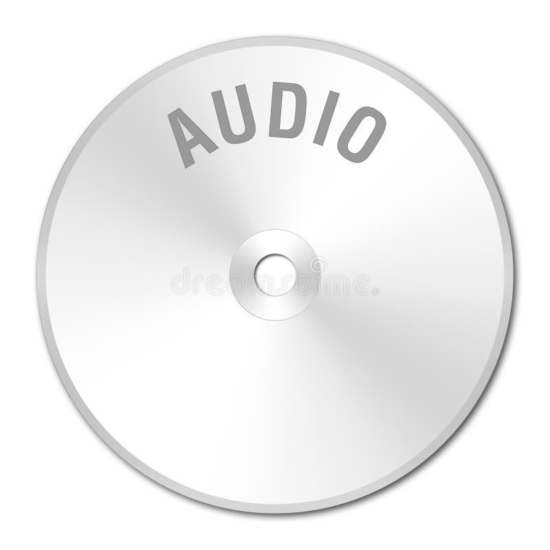 CD-ROMsilbernes AUDIO lizenzfreie stockbilder