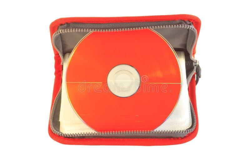 CD rosso fotografie stock