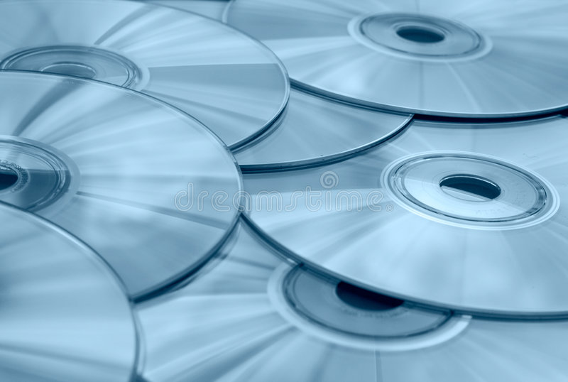CD's stock photography