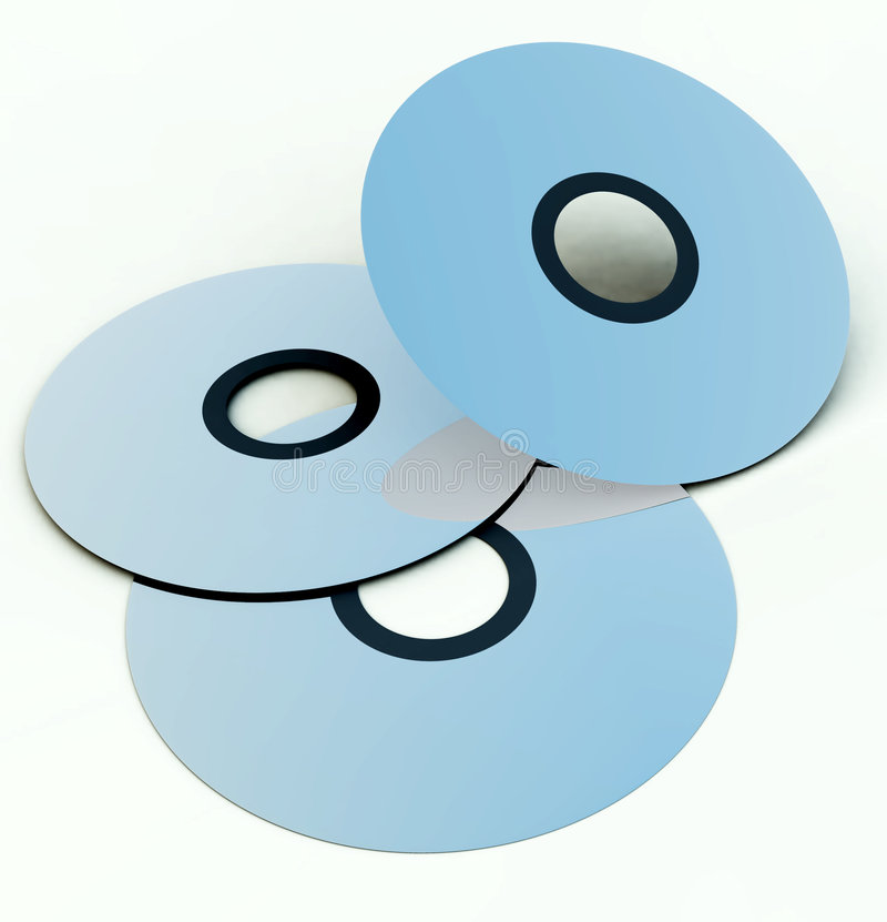 CD S Or DVD S 5 Royalty Free Stock Photo