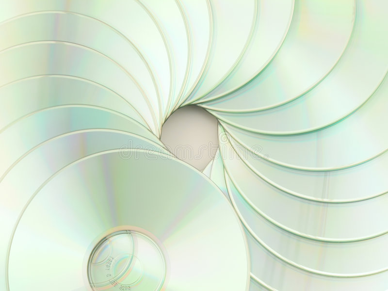 Download CD's spiral stock photo. Image of spiral, wallpaper, objects - 7632532