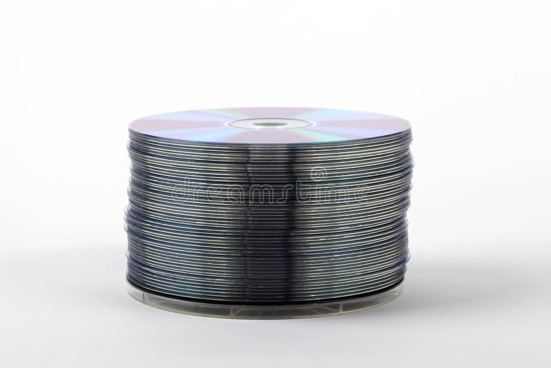 CD sistemati in una pila immagine stock