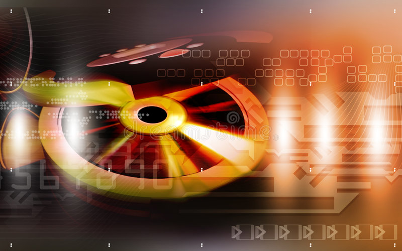 CD speler en schijf vector illustratie