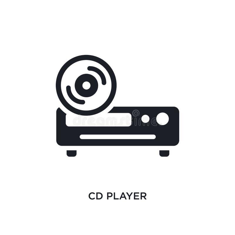 CD-speler geïsoleerd pictogram eenvoudige elementenillustratie van de slimme pictogrammen van het huisconcept CD-ontwerp van het  stock illustratie