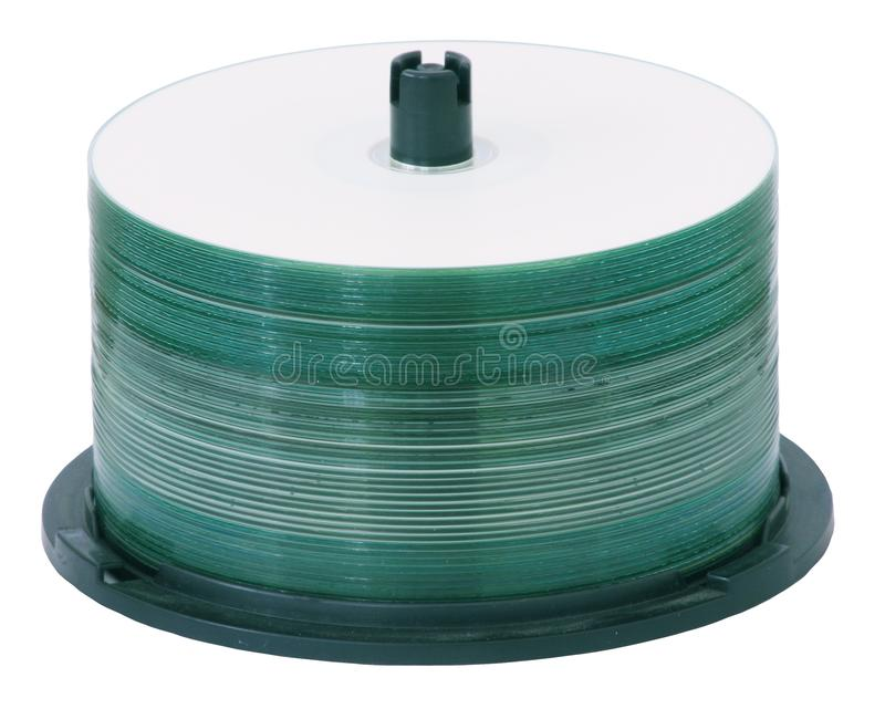 CD Spindle. A Spindle of Compact Discs royalty free stock photos