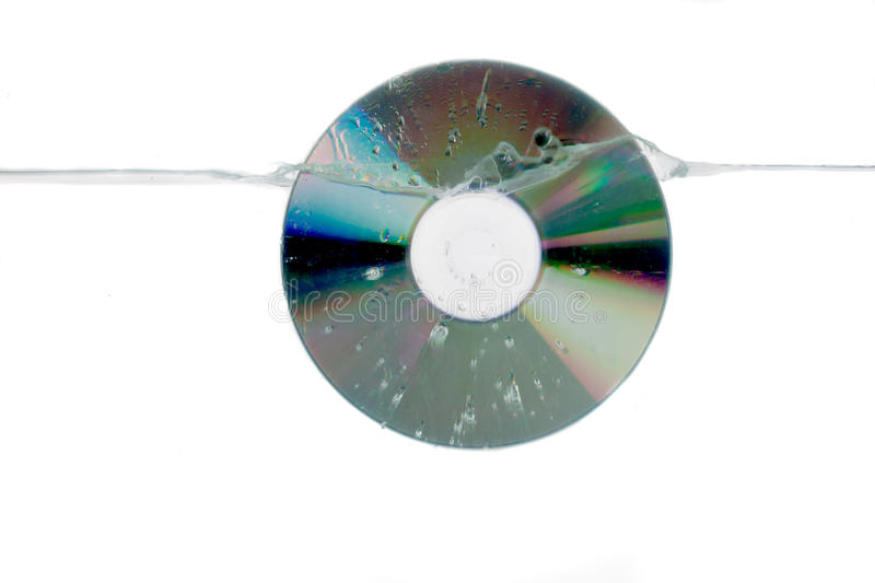 A CD Splash Royalty Free Stock Images
