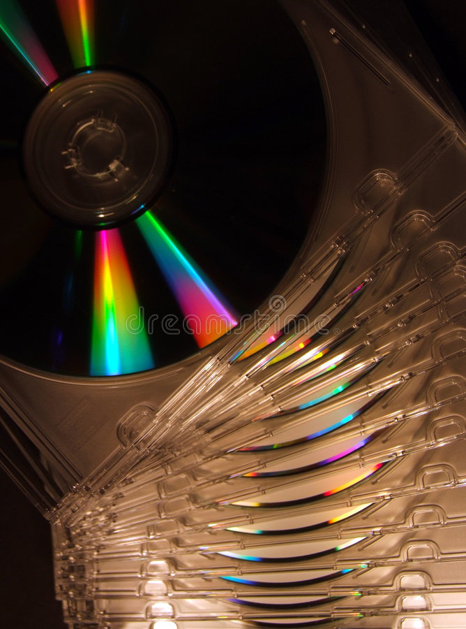Download Cd Stack stock image. Image of object, optical, empty, jewel - 411623