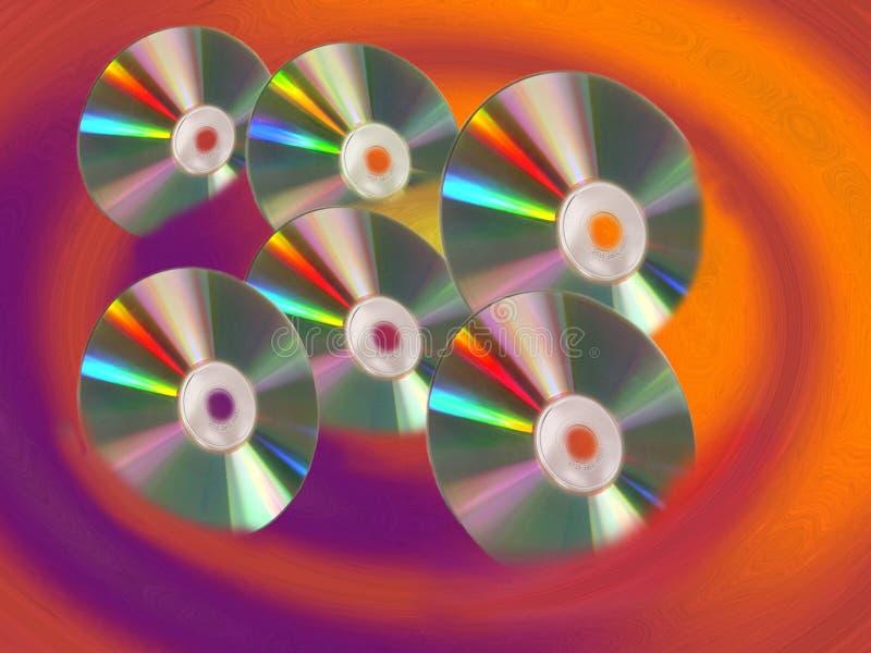 CD Swirls stock image