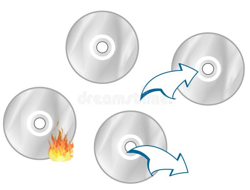cd symboler royaltyfri illustrationer