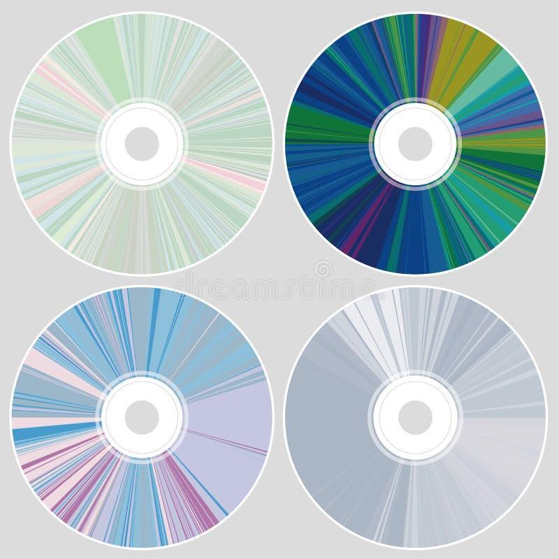 CD und DVD lizenzfreie abbildung