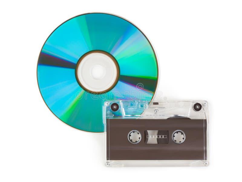 CD und Kassette lizenzfreie stockbilder