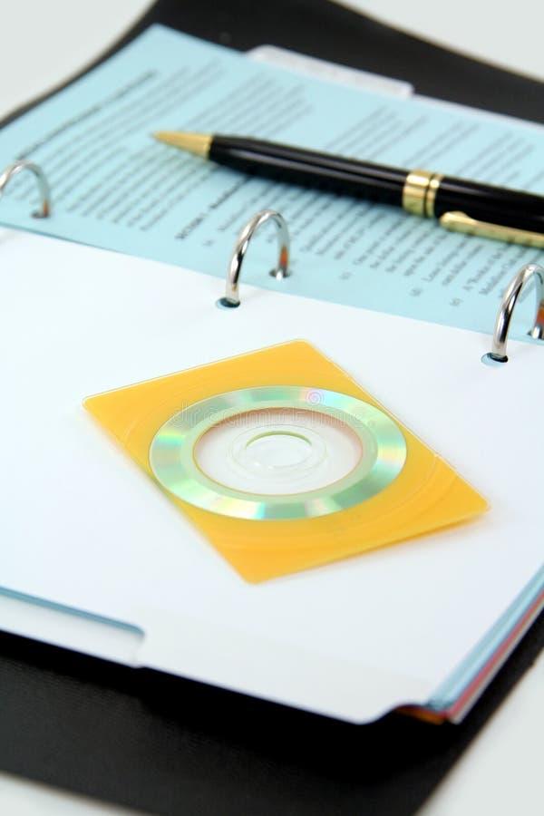 CD van de adreskaartjegrootte royalty-vrije stock fotografie