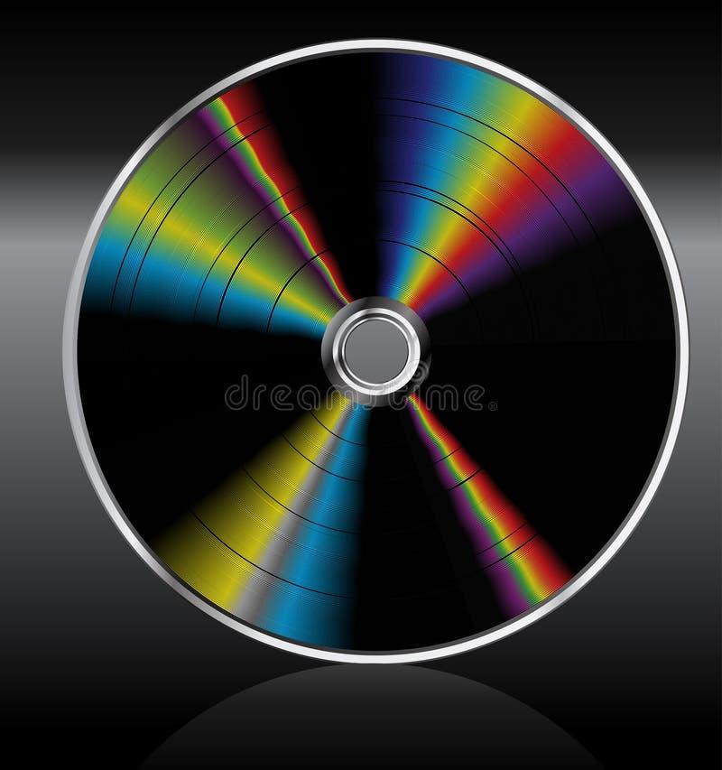 CD van de muziek dvd. Regenboog. royalty-vrije illustratie