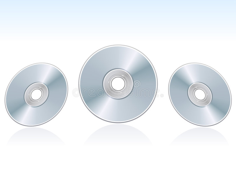 Download CD, VCD, DVD discs stock vector. Image of realistic, symbol - 3019243