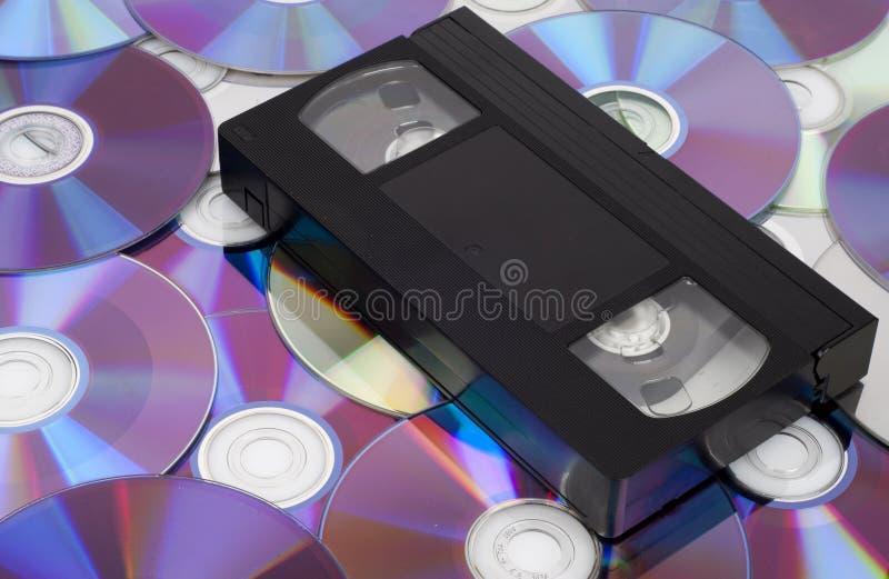 CD versus VHS. royalty-vrije stock foto's