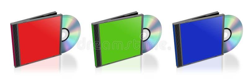 CD y caso ilustración del vector