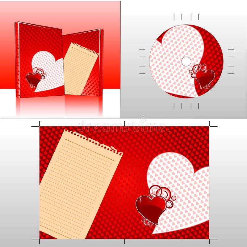cd02 miłość ilustracja wektor