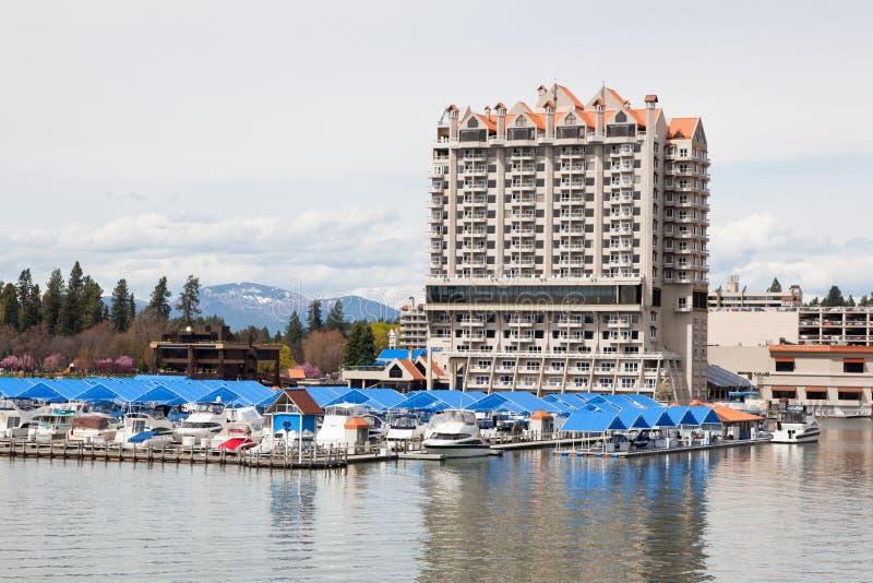 Download CDA Hotel and Marina editorial photo. Image of marina - 25525181