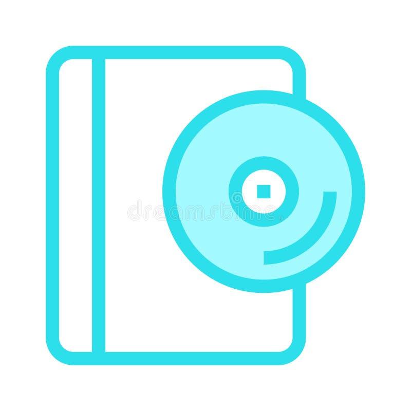 CDbuch-Farblinieikone stock abbildung