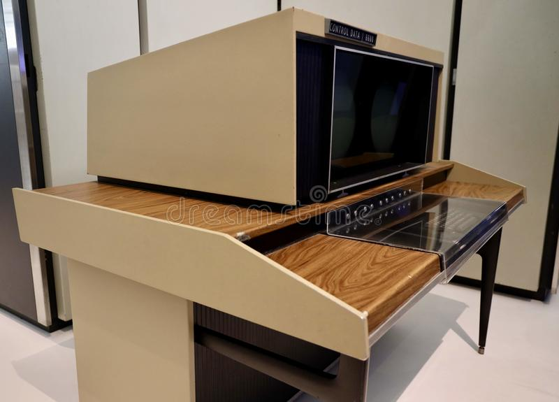 CDC 6600 computer by Control Data Ltd, 1968. The CDC 6600 was the flagship of the 6000 series of mainframe computer systems manufactured by Control Data stock image