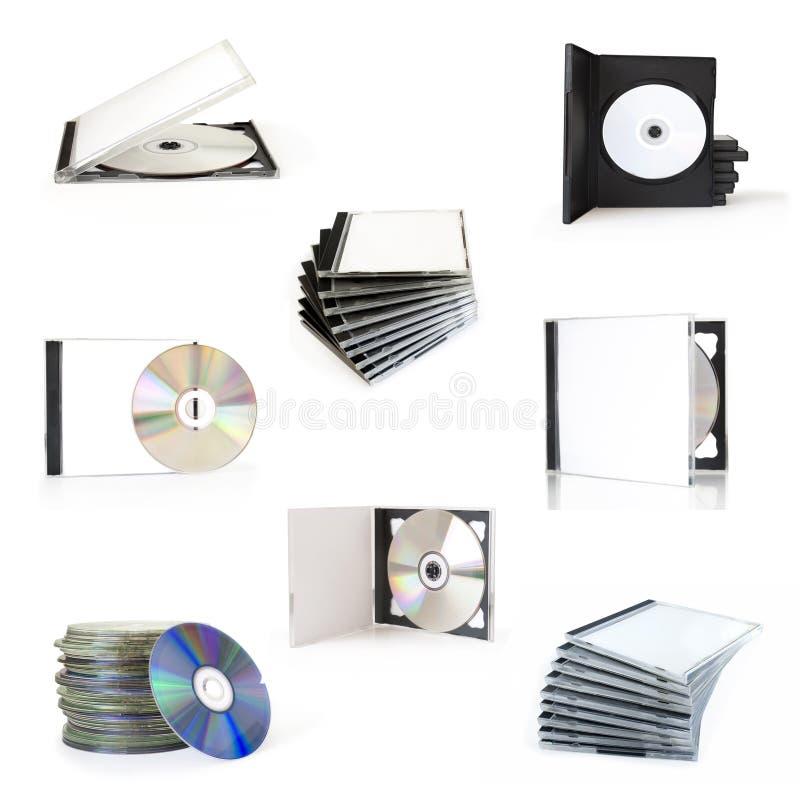 CDdozen van de inzameling royalty-vrije stock afbeeldingen