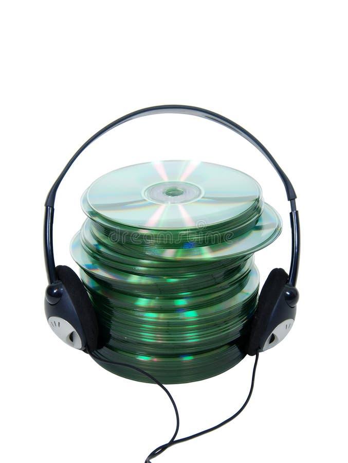Cdes audios imagen de archivo libre de regalías