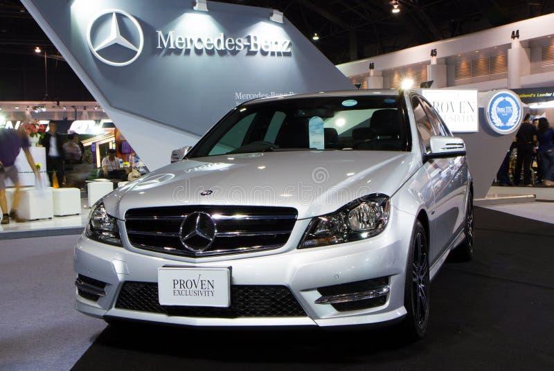 CDI C250 de la C-clase de Mercedes Benz en expo internacional del motor de Tailandia fotos de archivo libres de regalías