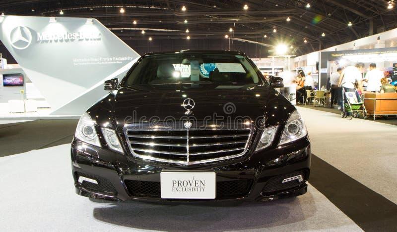 CDI del Mercedes-Benz E250 en expo internacional del motor de Tailandia foto de archivo