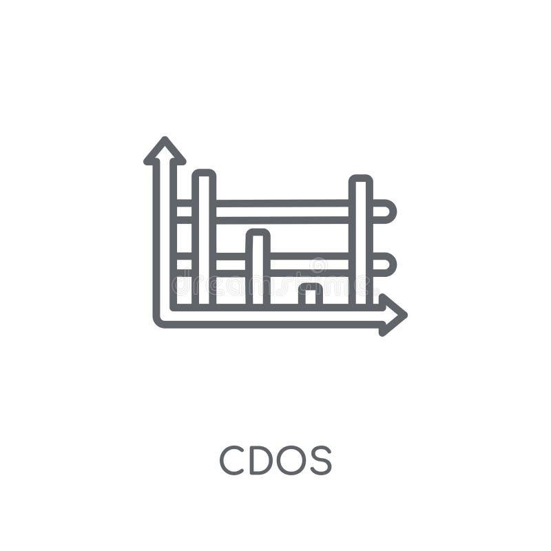 CDOs linjär symbol Modernt begrepp för översiktsCDOs logo på vit baksida vektor illustrationer