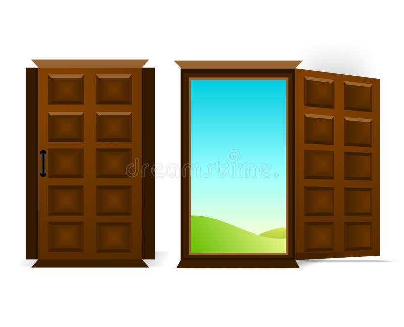 cdr drzwi dwa wektor ilustracja wektor