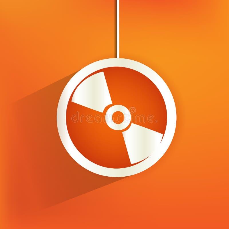 CDrengöringsduksymbol, lägenhetdesign stock illustrationer