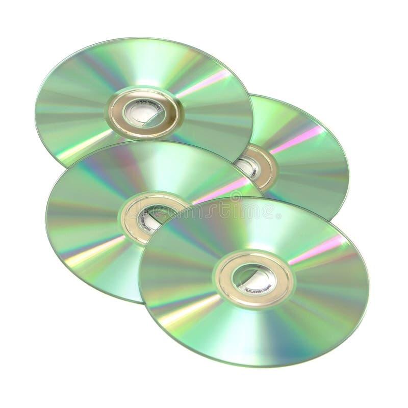 cds odizolowywający cztery zdjęcia stock
