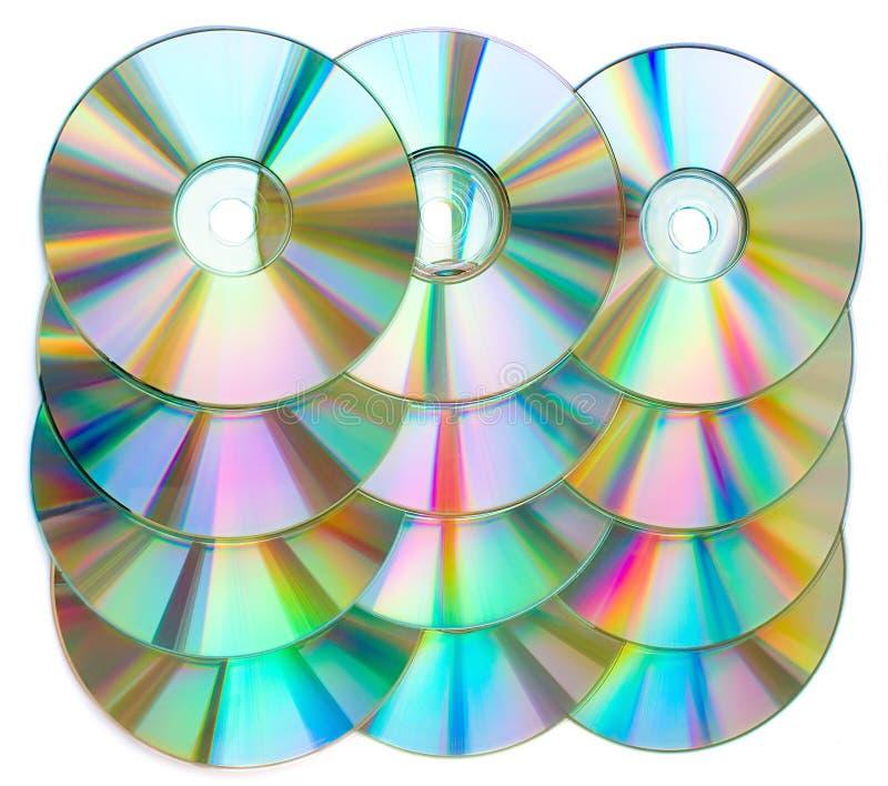 cds rzędy zdjęcie stock